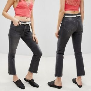 NWT FP Straight Crop Jeans